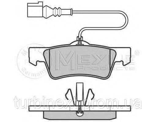 Колодки гальмівні (задні) VW T5 03- (Ate) MEYLE 025 243 6719/W