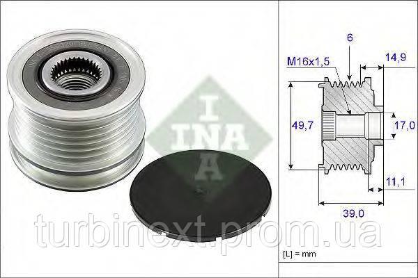 Шкив генератора MB Sprinter/Vito CDI (тип Bosch) INA 535 0050 10