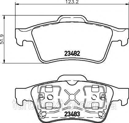 Колодки гальмівні (задні) Renault Laguna/Megane 01- (Teves) TEXTAR 2348202