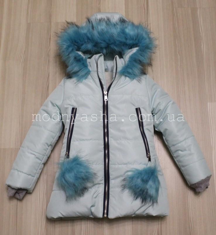 Куртка для дівчинки зимова 122 розмір