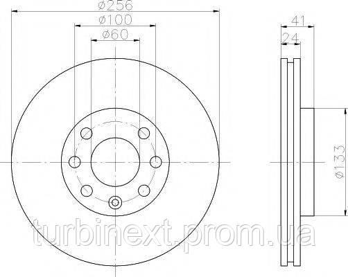 Диск гальмівний TEXTAR 92091803 (передній) Opel Astra 98-09 (256x24) PRO