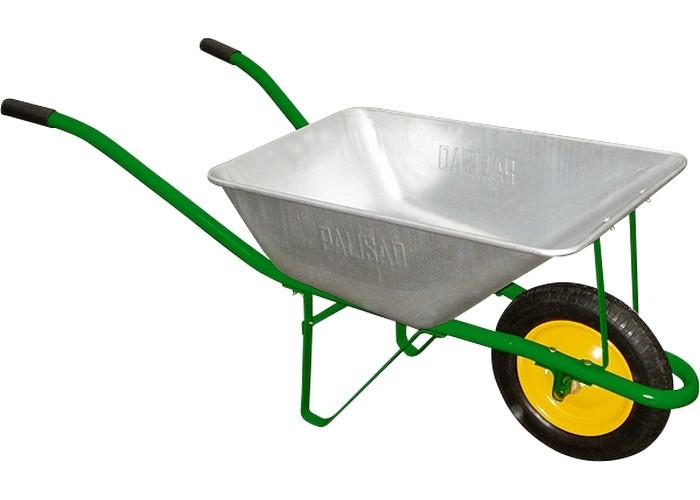 Тачка садовая, грузоподъемность 120 кг, объем 58 л // PALISAD 689108