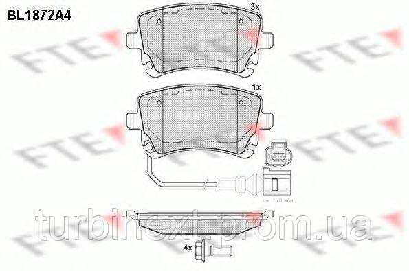 Колодки тормозные FTE BL1872A4 (задние) VW T5 03- (Lucas) (c датчиком)