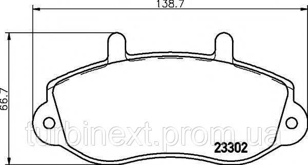 Колодки гальмівні TEXTAR 2330201 (передні) Renault Master 98 - R15 (Bosch)