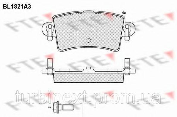 Колодки тормозные FTE BL1821A3 (задние) Renault Master 98-