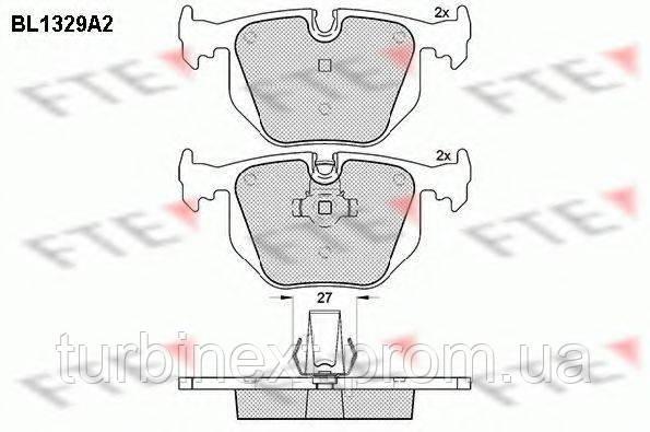 Колодки тормозные FTE BL1329A2 (задние) BMW 3/5/X3/X5 97-