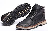Зимние кожаные ботинки на меху Wrangler Costa Black