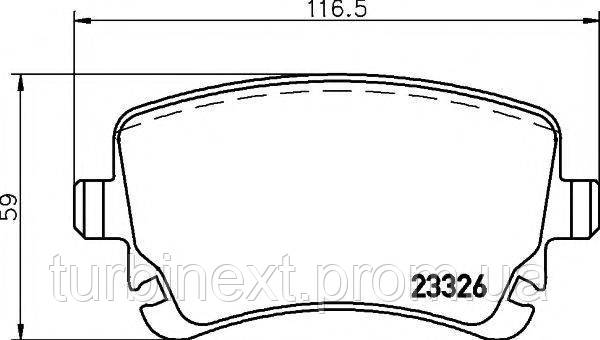 Колодки тормозные TEXTAR 2332601 (задние) VW T5 03- (Lucas)
