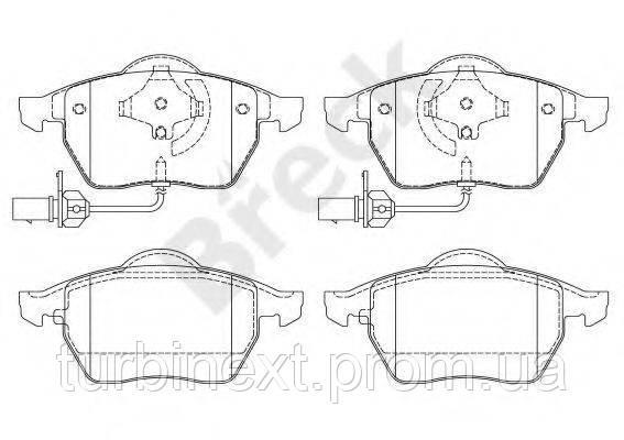 Колодки тормозные BRECK 21938 00 701 10 (передние) Skoda Superb/VW Passat 95-