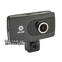 Автомобильный видеорегистратор Globex GE-218 с WDR, дисплеем и двумя камерами