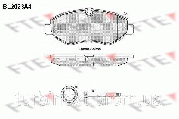 Колодки тормозные FTE BL2023A4 (передние) MB Sprinter (906) /Vito (W639/447) (Brembo)