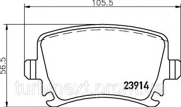 Колодки гальмівні TEXTAR 2391401 (задні) VW Caddy 03- (Lucas)