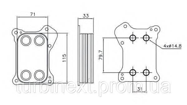 Радиатор масляный NRF 31167 Fiat Doblo 1.3D/1.4 10- (теплообменник)