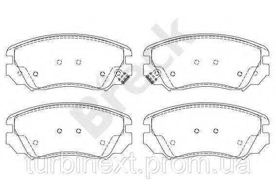 Колодки тормозные BRECK 24415 00 701 10 (передние) Opel Insignia 08-