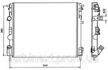 Радиатор охлаждения NRF 58148 Renault Kangoo 1.6 16V/1.9D/dTi/dCi 99-