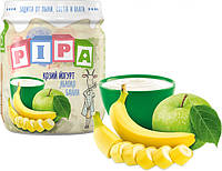 Фруктовое пюре PiPa из яблок и банана с козьим йогуртом 100 г