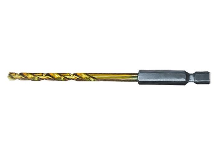 Сверло по металлу, 8 мм, HSS, нитридтитанове покрытие, 6-гранный хвостовик // MTX 7178029