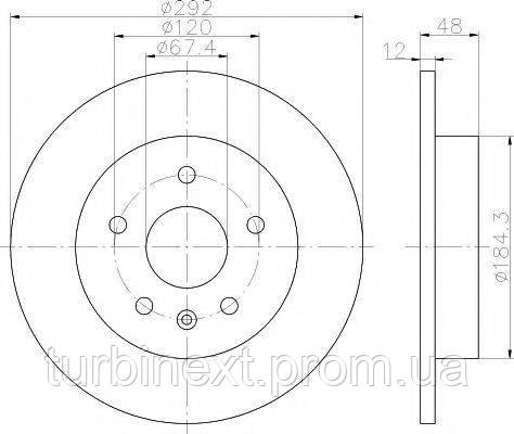 Диск тормозной TEXTAR 92222903 Opel Insignia A 08- (296x30) PRO