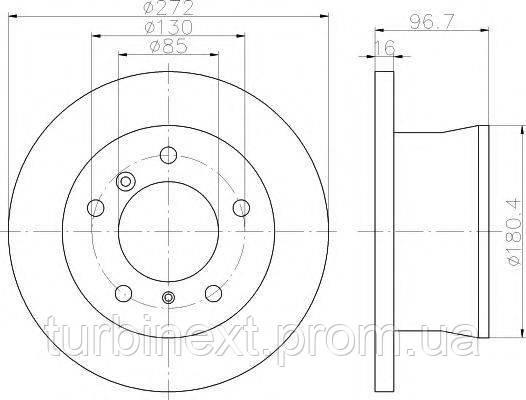 Диск тормозной TEXTAR 92137603 (задний) MB Sprinter 308-316CDI 96- (272x15.9) PRO