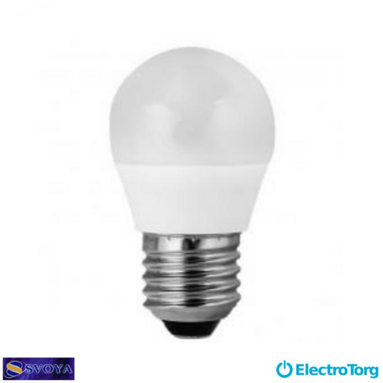Светодиодная лампа Small Ball 6W, 5000K, E27 Svoya