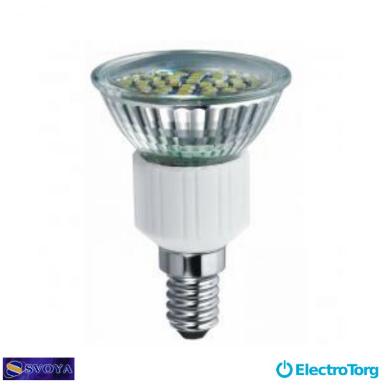 Светодиодная лампа R50 3W, 5000K,  E14 Svoya