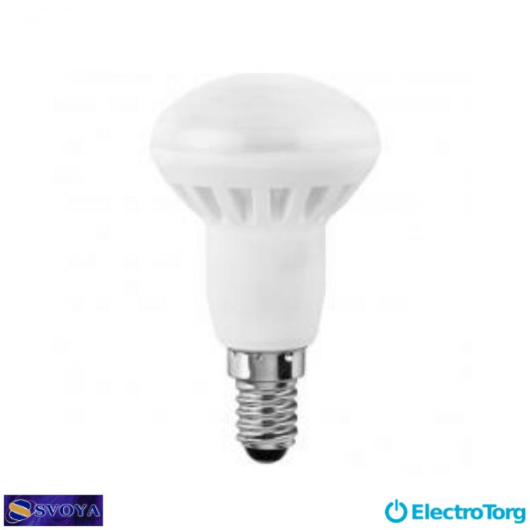Светодиодная лампа R50 6W, 5000K,  E14 Svoya