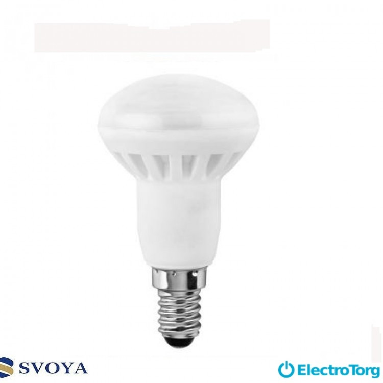 Светодиодная лампа R50 6W, 5000K  E14 Svoya