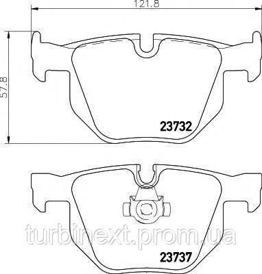 Колодки гальмівні TEXTAR 2373201 (задні) BMW 5 (E60/E61)/6 (E63/E64) 03-10