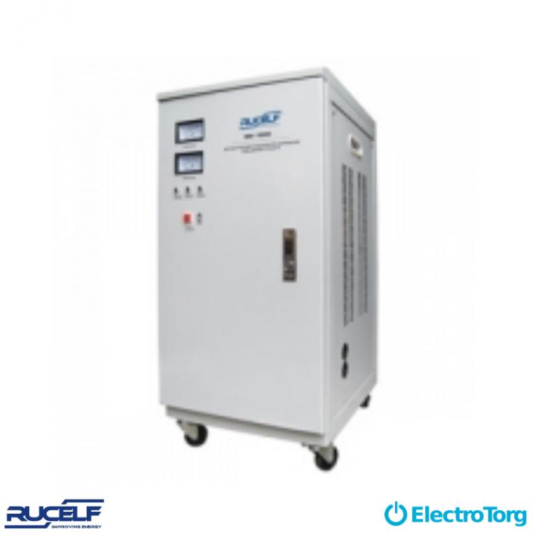 Стабилизаторы электромеханические 1-ф. (D-цифровая индикация, V-вертикальное исполнение, C-вентилятор охлаждения) SDV-15000 Rucelf