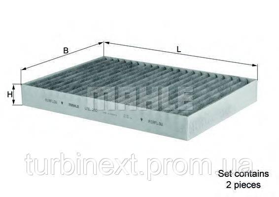 Фильтр салона KNECHT LAK 292/S MB S-class (W221/C216) 05- (антиаллергический) (к-кт 2шт.)