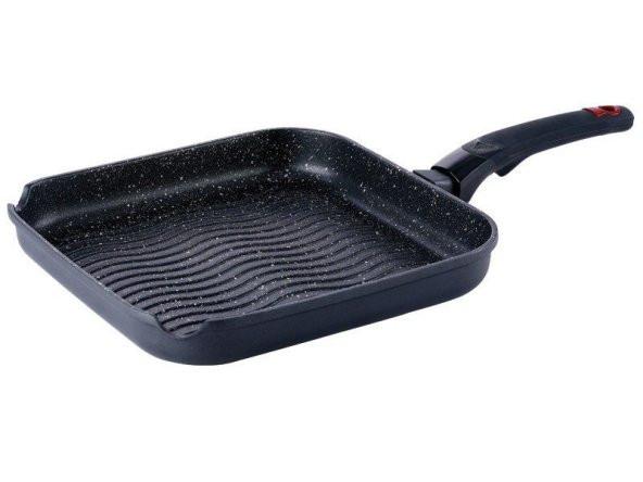 Сковорода-гриль 28 см мраморное покрытие Bergner BG-6467