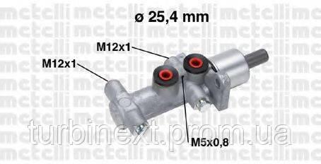 Циліндр гальмівний METELLI 05-0767 (головний) Opel Vivaro/Renault Trafic 1.9/2.0/2.5 dCi 01- (TRW)