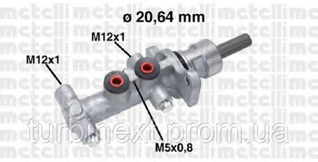 Циліндр гальмівний METELLI 05-0768 (головний) Renault Trafic 01- (-ESP)