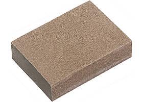 Губка для шліфування, 100 х 70 х 25 мм, середня жорсткість, 3 шт., P 60/80, P 60/100, P 80/120 // MTX