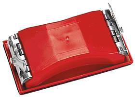 Брусок для шлифования, 160 х 85 мм, пластиковый с зажимами // MTX
