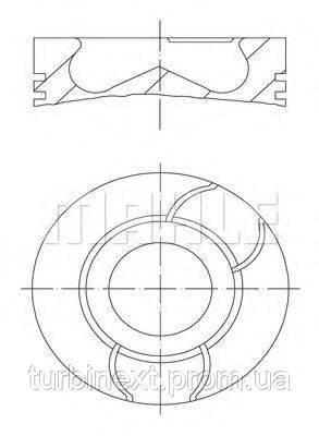 Поршень Citroen MAHLE ORIGINAL 040 03 00 Citroen Nemo/Peugeot Bipper/Ford Fiesta 1.4 HDi/TDCi 08- (73.70 mm/STD)