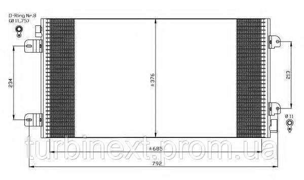 Радіатор кондиціонера NRF 35485 Renault Master 1.9-3.0 DCii 01-