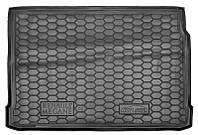 Коврик в багажник Renault Megane II (хетчбэк) 2002 - 2009 черные, полиуретановые (Avto-Gumm, 111729) - штука