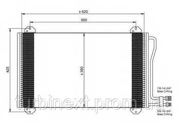 Радиатор кондиционера NRF 35811 MB Sprinter 901-904 TDI/CDI 96-06