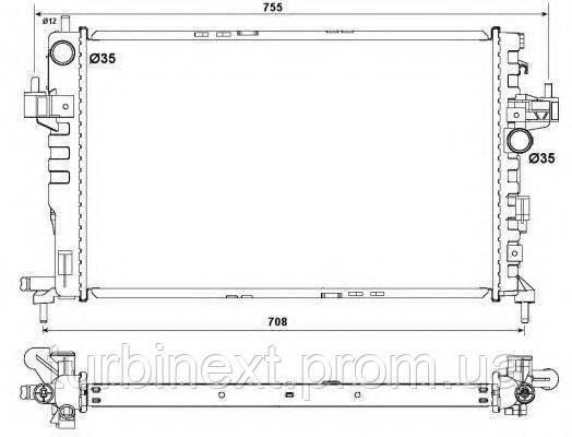 Радіатор охолодження NRF 54753 Opel Combo 1.3/1.7 CDTi 04- (+/- AC)