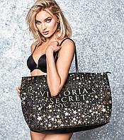 Cумка чёрная Victoria's Secret в звёздочки