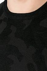 Свитер мужской удлиненный 621K002 (Черный), фото 3