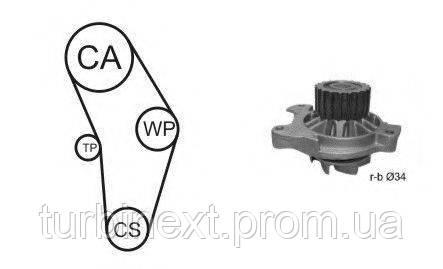 Комплект ГРМ AIRTEX WPK-9274R03 + помпа VW LT 96-/VW T4 2.4/2.5 TDI 91- (помпа 9274R)
