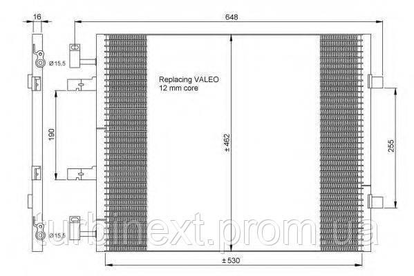 Радиатор кондиционера NRF 35845 Renault Trafic 2.0CDTI 06-