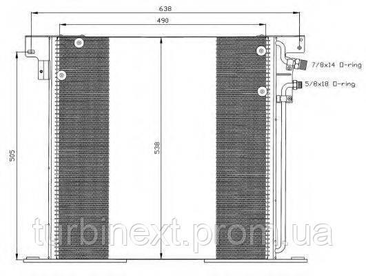 Радиатор кондиционера NRF 35305 MB Vito (W638) -03