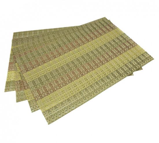 Комплект из 4-х сервировочных ковриков 45х30х0.1см полимеровый на обеденный стол Fissman