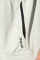 Кофта мужская спорт в светлом оттенке 159V001-1 (Светло-серый меланж), фото 3