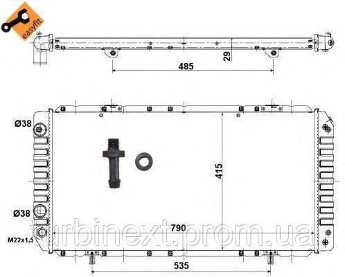 Радіатор охолодження NRF 52062 Citroen Jumper/Fiat Ducato/Peugeot Boxer 94- (+AC)