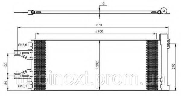 Радиатор кондиционера NRF 35894 Citroen Jumper/Peugeot Boxer 06-