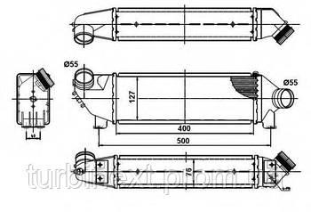 Радиатор интеркулера NRF 30886  Ford Transit 2.0DI 00-06